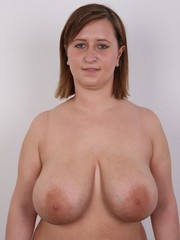 Her huge amateur tits will harden any cock
