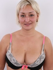 Short hair chubby matured blonde with big tits, cute big ass and fleshy pussy