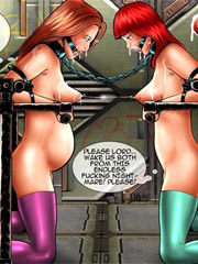 Tied beauties tied and humiliated by two cruel military guys.