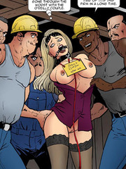Blonde slut roped and gagged gets group fucked in the building site. uncut #2 - confiscated twins by fernando