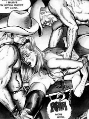 Hot toon blonde chick gets hogtied and fucked badly in awesome drawn bdsm porn