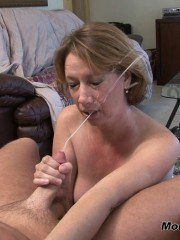 Hot woman giving blow job