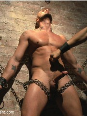 He loves getting hardcore leashed and punished by a naughty guy.