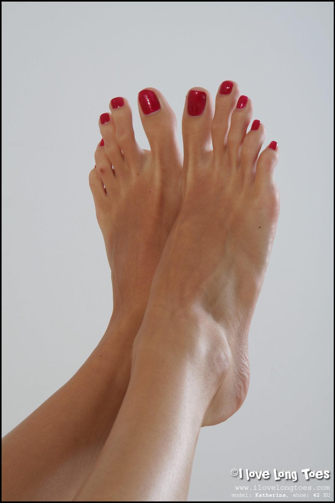 Sexy toe nail long
