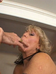 Milf with blonde hair is fucking hard and wild in bedroom