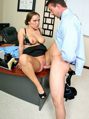 Big titted kaylee lovkox convincing her boss to give her a good evalution