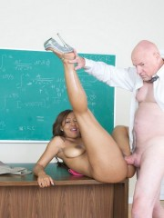 Horny young slut making an old geezer so happy