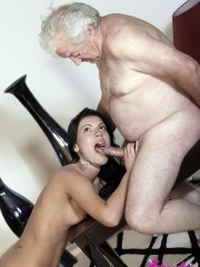 He found her in street and after that there was the most pleasant old and young blowjob in his hut