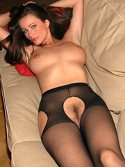 Teen girls in naked in pantyhose fingering tips