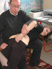 Petite amateur gets spanked and spread wide open 7