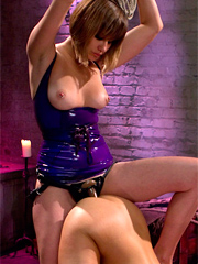 Slut seeks out maitresse madeline for a day filled with spanking, tit torture, humiliation, punishment and a strap-on ass fucking pile driver.