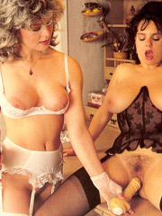 Two busty eighties lesbians toying eachothers tight slit
