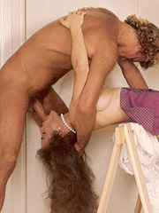 Big titted hairy eighties lady double stuffed and facialised